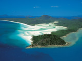 Small thumb aerial   tongue bay  hill inlet and whitehaven beach   tourism qld